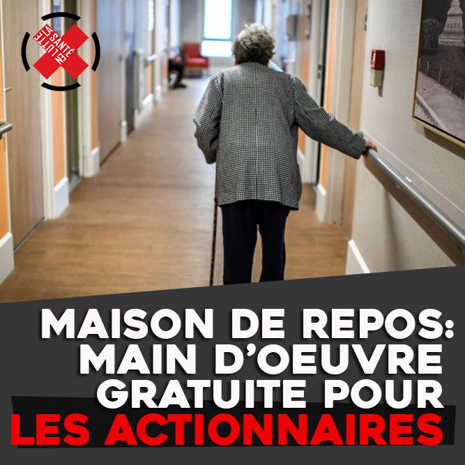 MAISON DE REPOS: MAIN D'ŒUVRE GRATUITE POUR LES ACTIONNAIRES