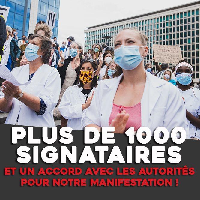PLUS DE 1000 SIGNATAIRES
