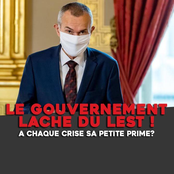LE GOUVERNEMENT LACHE DU LEST