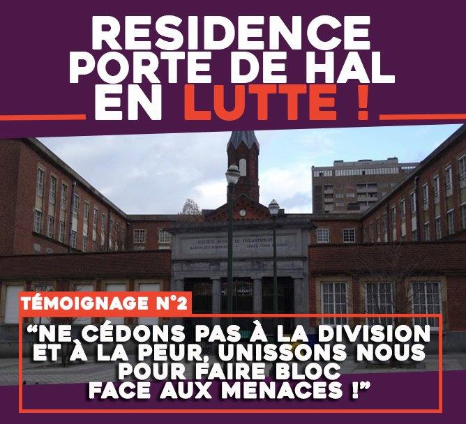 Résidence Porte de Hal en lutte : «Ne cédons pas à la division et à la peur, unissons nous pour faire bloc face aux menaces !»