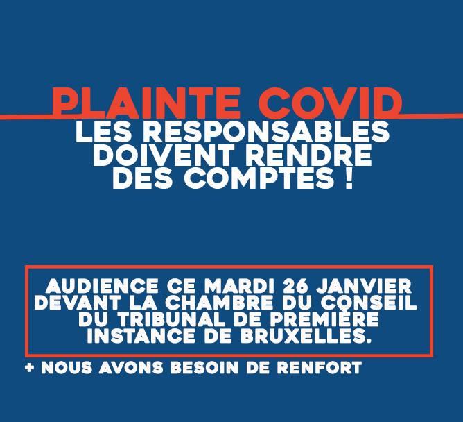 Plainte Covid : Les responsables doivent rendre des comptes !