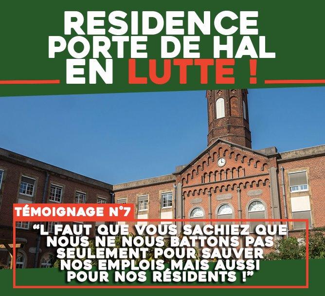 Résidence Porte de Hal en lutte : « Nous ne nous battons pas seulement pour sauver nos emplois mais aussi pour nos résidents ! »