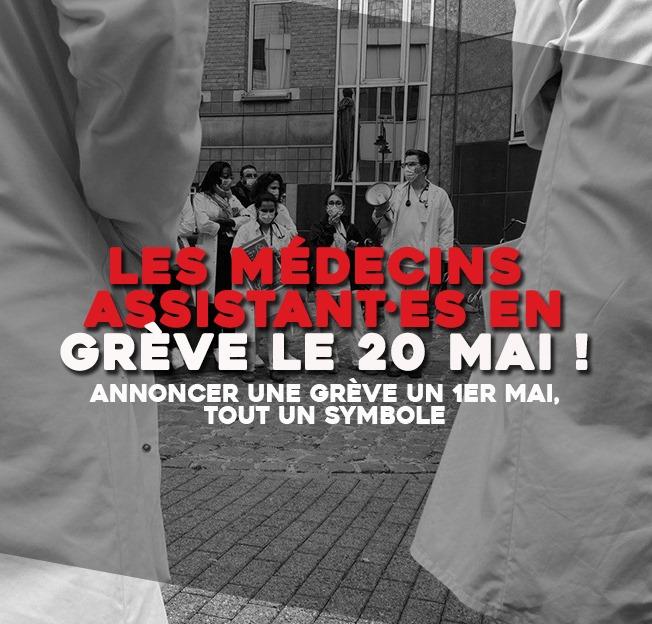 20 MAI : GRÈVE DES MÉDECINS ASSISTANT·ES !