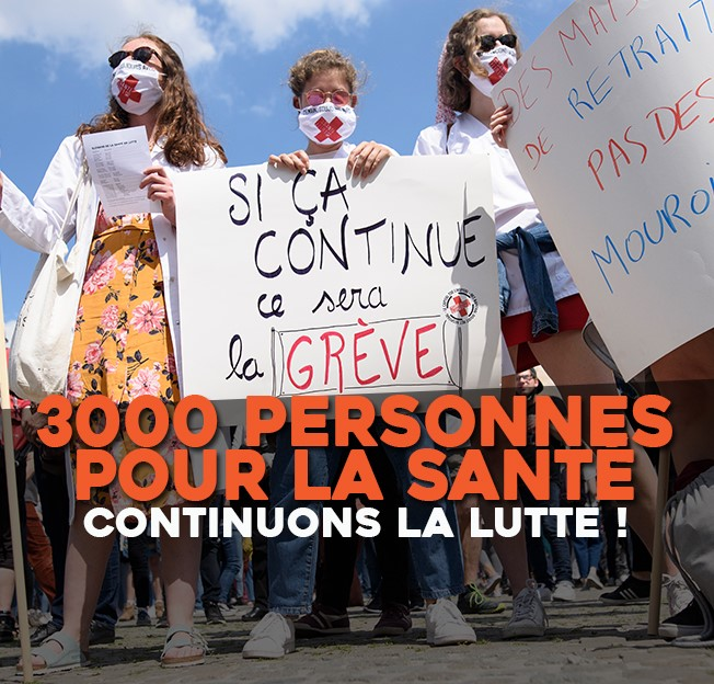 3000 PERSONNES POUR LA SANTÉ !