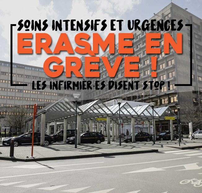 Grève aux soins intensifs et aux urgences à Erasme !